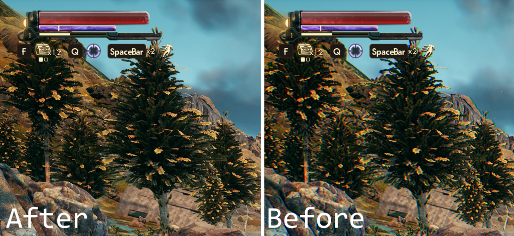 chromatic aberration removal mod outer worlds